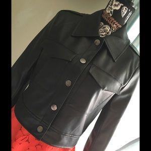 NWOT Bagatelle snap closure faux leather jacket